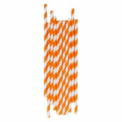 24 palhinhas risca laranja