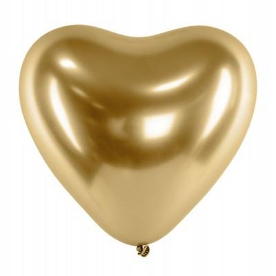 Balão coração chrome ouro