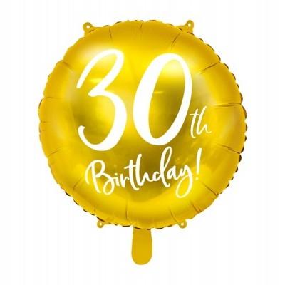 Balão foil 30th birthday ouro