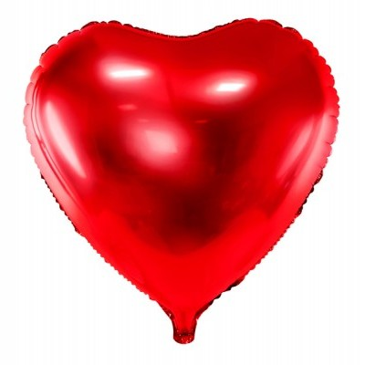 Balão coração vermelho 61cm