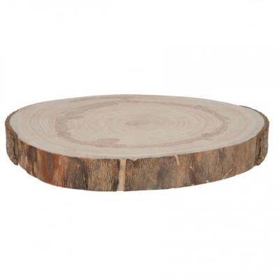 Rodela de madeira 40cm