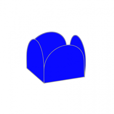 Conj. 24 formas brigadeiro Azul