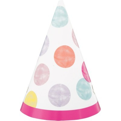 8 Chapéus pink dots