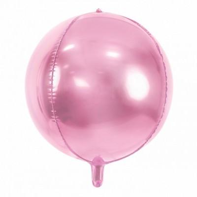 Balão Foil Bola rosa bebé