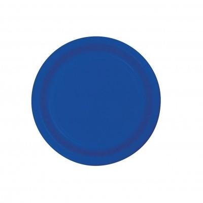 20 Pratos azul cobalto