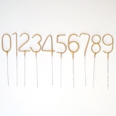 Sparkler ouro Números