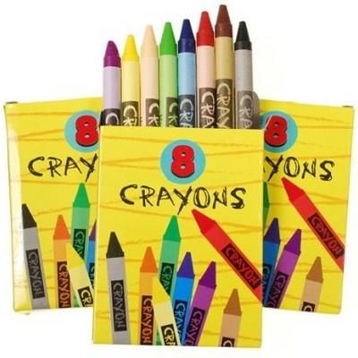6 caixas lápis de cera