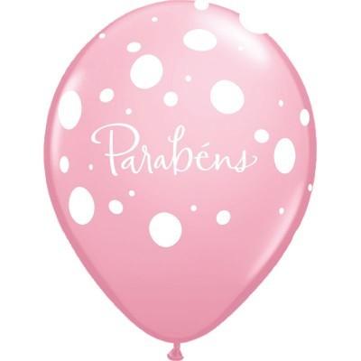 Balão Parabéns rosa