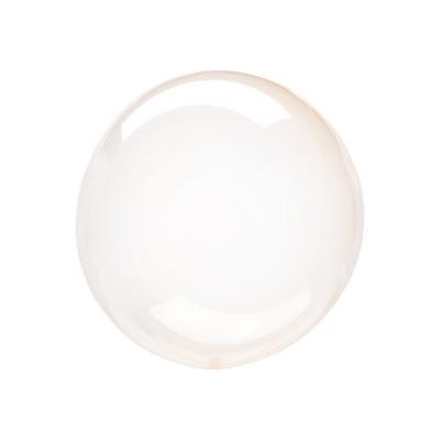 Balão CRYSTAL CLEARZ pequeno Laranja