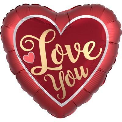 Balão coração Love You