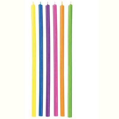 12 x Velas cores Arco iris