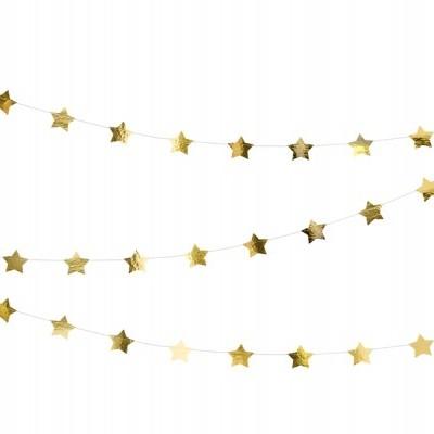 Grinalda estrelas ouro