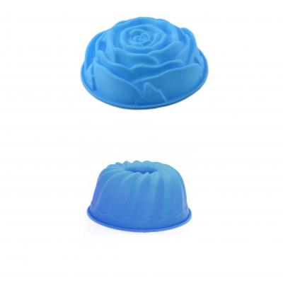 4 Formas silicone azul