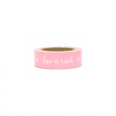 Washi tape rosa love is sweet