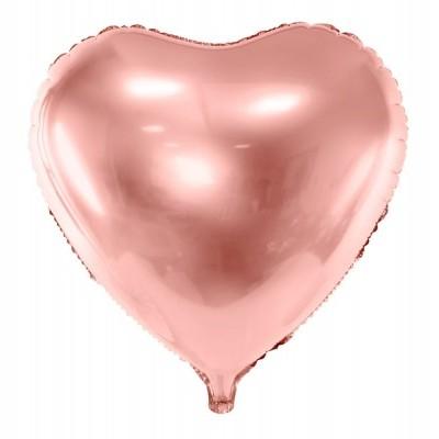 Balão coração rosegold 61cm