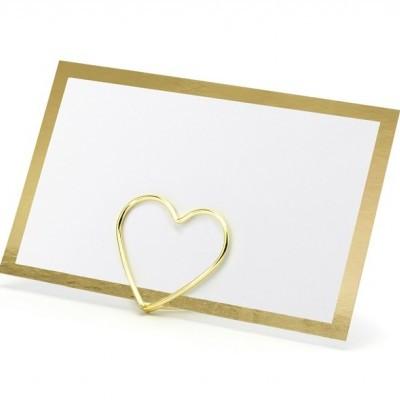 10 Marcadores de mesa moldura ouro