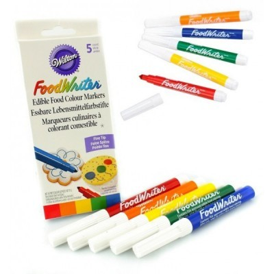 Marcadores alimentares coloridos x5