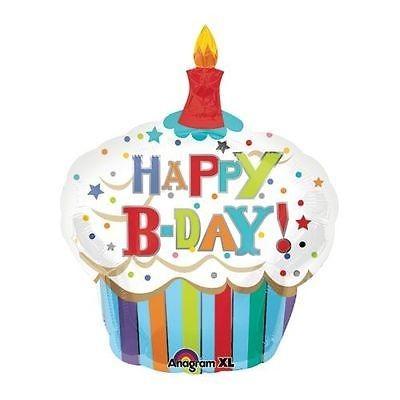 Balão foil happy birthday cupcake
