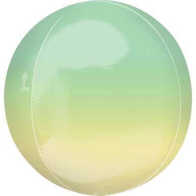 Balão orbz ombre amarelo verde 38cm