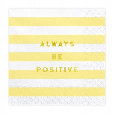 "20 Guardanapos ""Always be positive"""