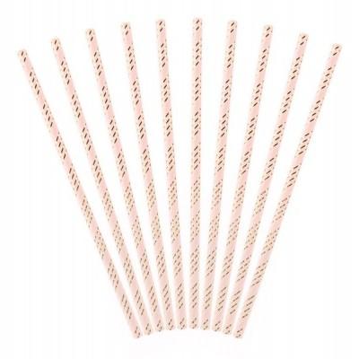 10x Palhinhas rosa claro