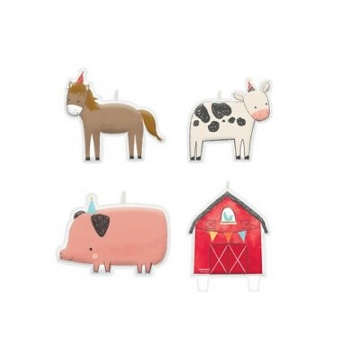 4 Velas  animais da quinta