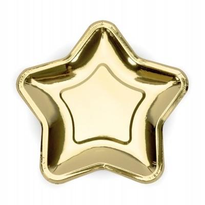 Pratos Estrelas ouro L