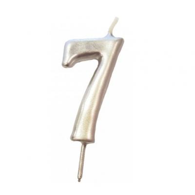 Vela Nº Prata -6cm