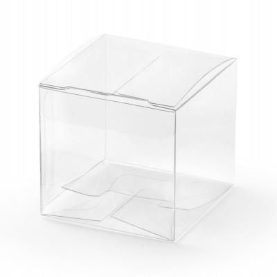 10 Caixas brinde quadradas transparentes