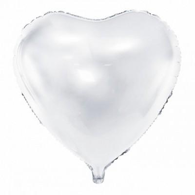 Balão coração branco 61cm