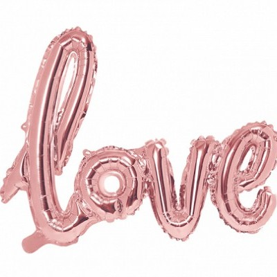 Balão foil love rosegold