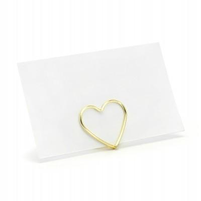 Suporte marcador coração ouro