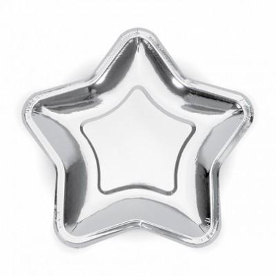 Pratos Estrelas prata L