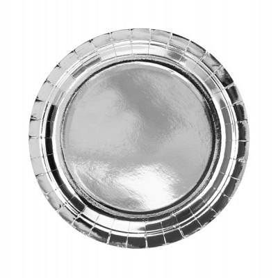 6 Pratos redondos prata