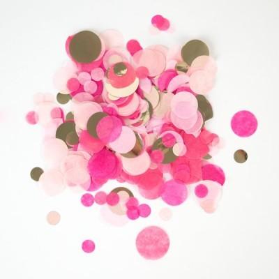 Confettis rosa dourado