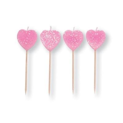 velas corações glitter