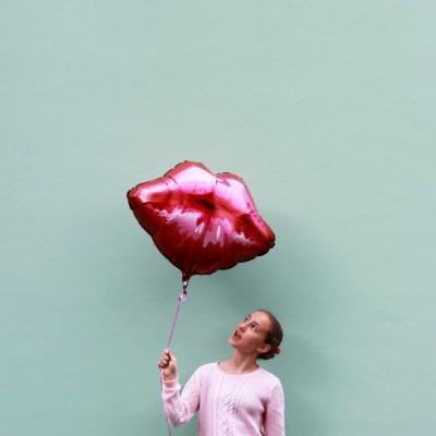 Balão foil lábios