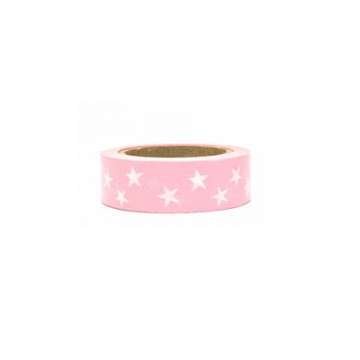 Washi tape rosa estrelas