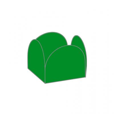 Conj. 24 formas brigadeiro Verde Floresta
