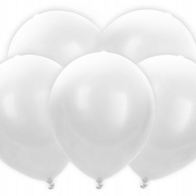 5 Balões LED brancos 30cm