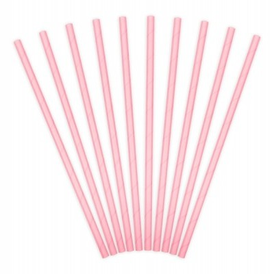 10 Palhinhas rosa claro