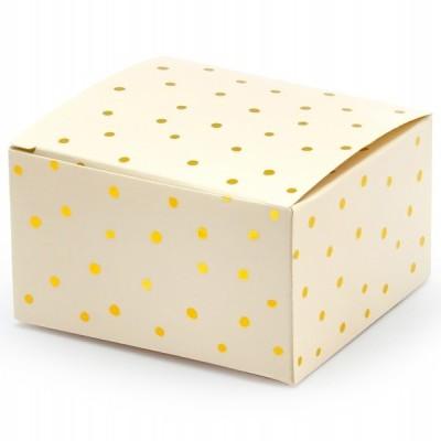 10 Caixas brinde pastel e bolas douradas