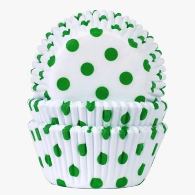 Formas cupcake bolinhas verdes x100