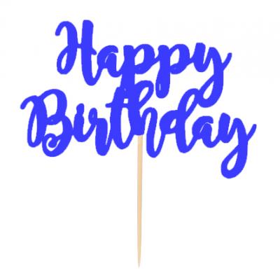 """Topo de bolo """"Happy Birthday"""""""