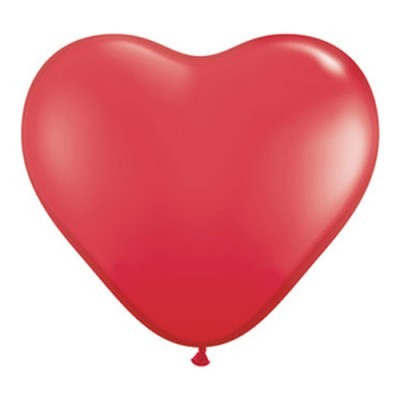 """Balão latex 16"""" coração vermelho"""