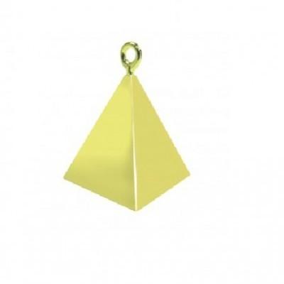 Peso pirâmide para balões dourado