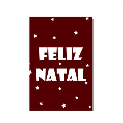 """Postal """"Feliz Natal"""""""
