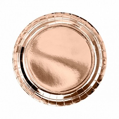 6 Pratos redondos rose gold