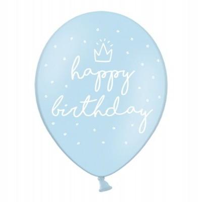 Balão latex happy birthday azul