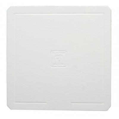 Disco quadrado branco elegante (vários tamanhos)